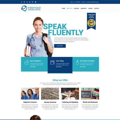 Language Institute webdesign