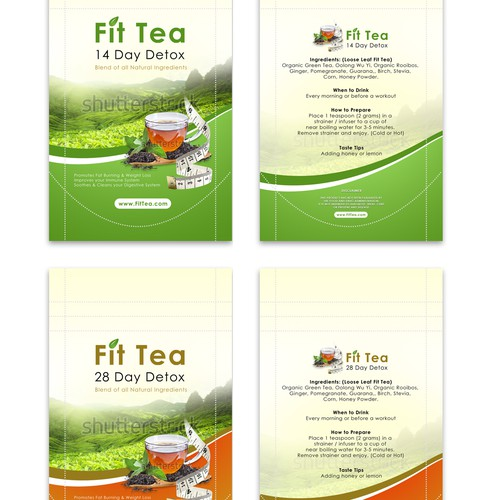 Fit Tea Product Packaging