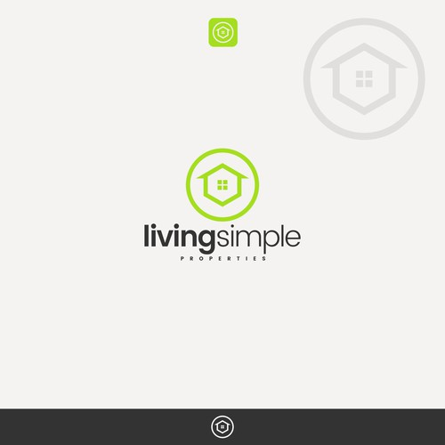 simple logo for LIVING SIMPLE properties