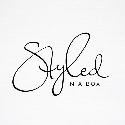 Unique Handwritten Logo - Styled in A Box