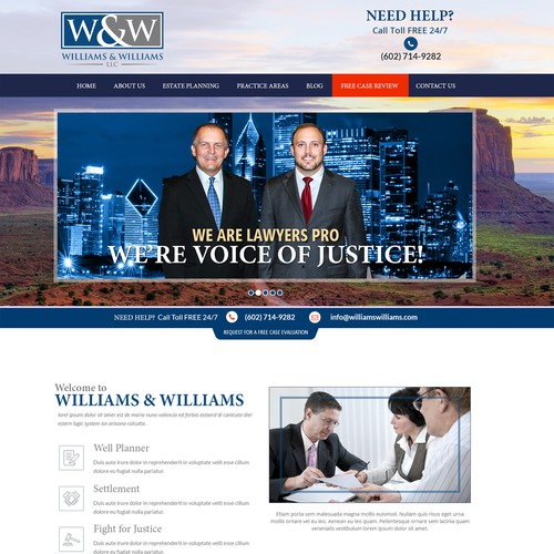 Estate Law Company Web Design