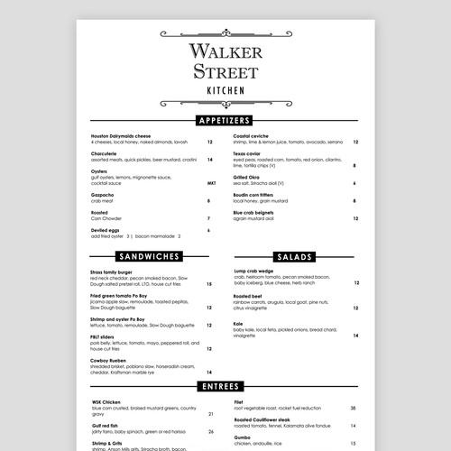 Book Menu Design