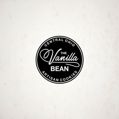 A logo for The Vanilla Bean: artisan cookies from a home baker.