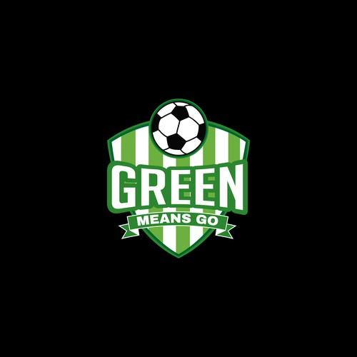 """Logo Soccer """"Green Means Go"""""""
