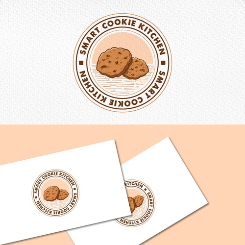 A vintage Logo for baked goodies - SMART COOKIE Kitchen