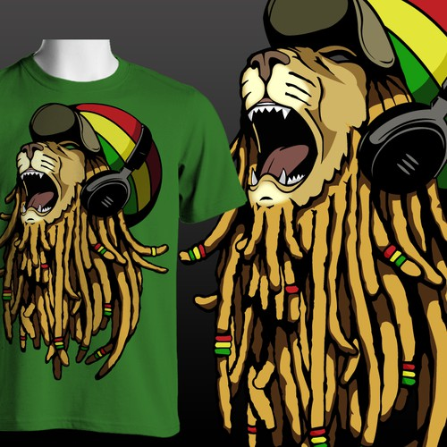 Bold Rasta Lion Design