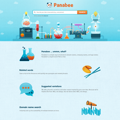 Web design for Panabee