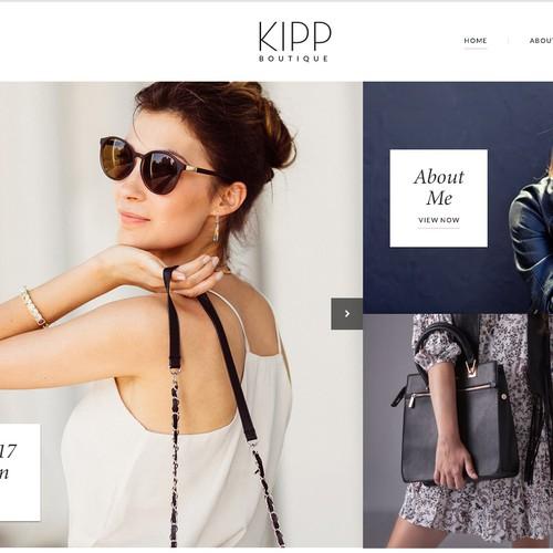 Kipp Boutique High End Fashion Label Website