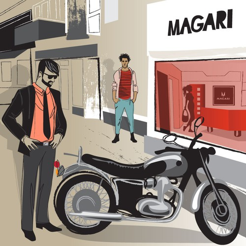 illustration for magari shoes