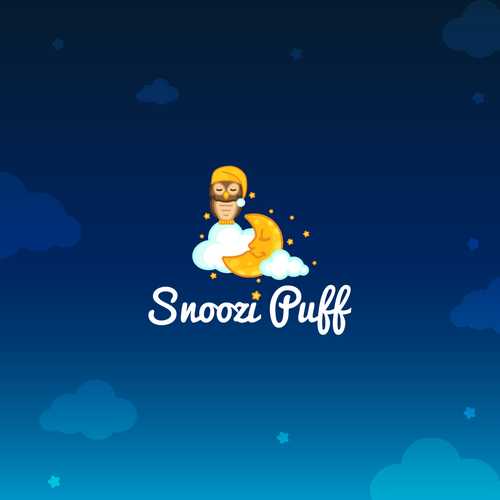 Cute, sleepy and calm logo for children pillows.