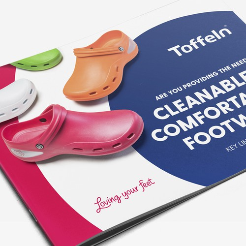Covers and Intro pages for Toffeln footwear 2020 Catalog