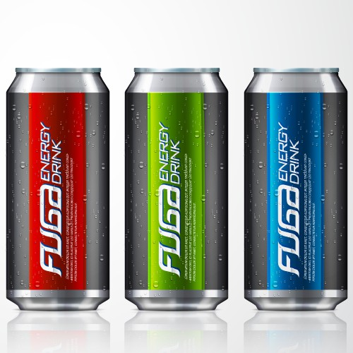 Create the next product label for Fuga Energy Drink