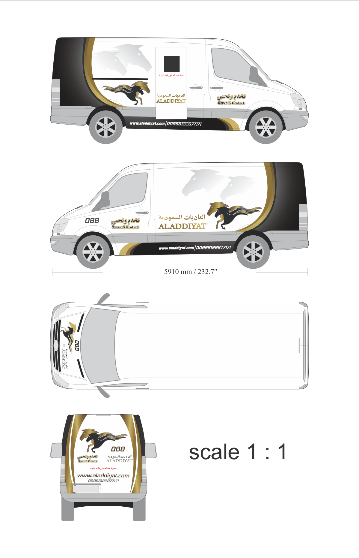 Tough and powerful van wrap design for Money Transfer Company