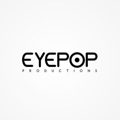 Create a smart logo that lets people know that Eyepop Productions can tell a story visually