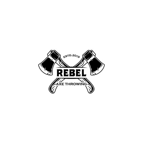 Rebel Axe Throwing vintage logo