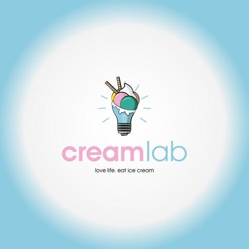 Logo Design fore CreamLab ice cream shop
