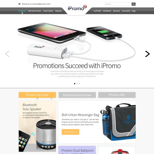 iPromo clean new look