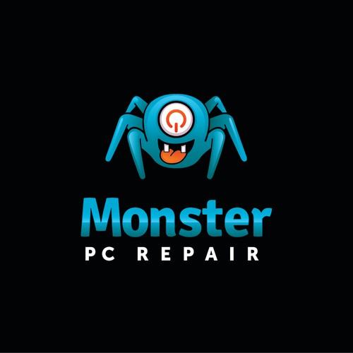 Monster PC Repair needs a new logo