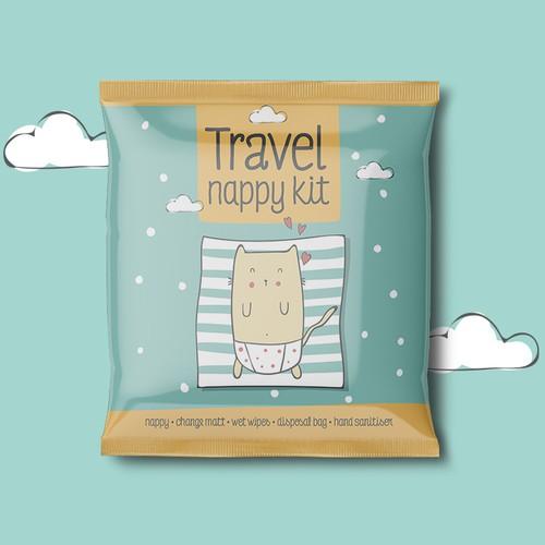 Packaging design for Travel Nappy Kit
