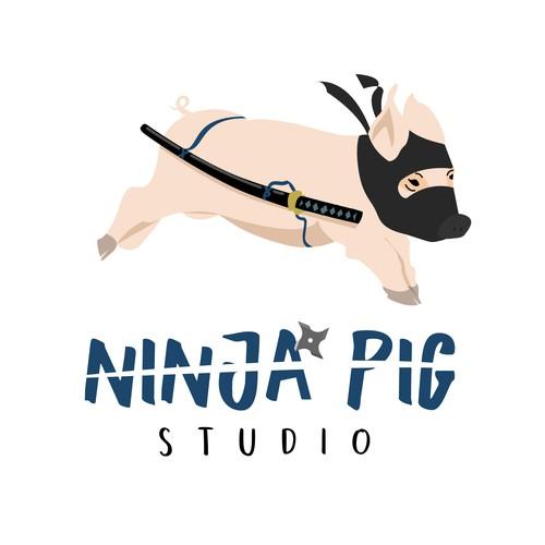 Logo prop for Ninja Pig Studio