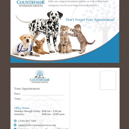New postcard, flyer or print wanted for Countryside Veterinary Services