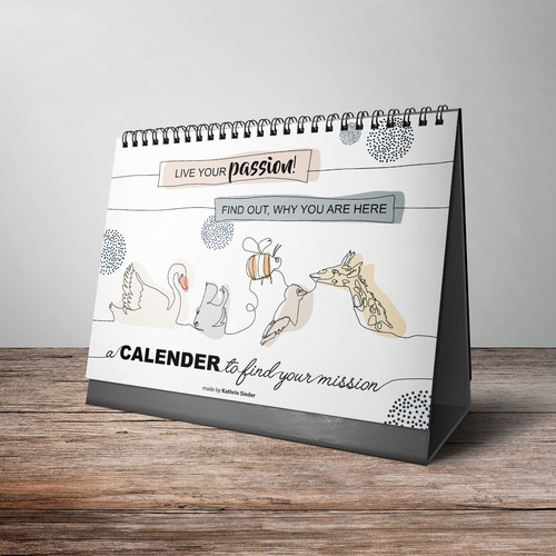 "The cover for the calender with the spirits: ""Live your passion"""