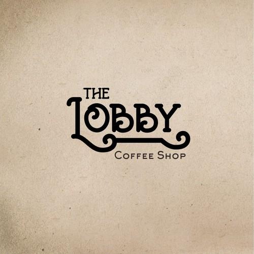 Design a creative logo for The Lobby Coffee Shop.