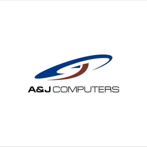 Logo design for A&J Computers