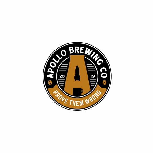 Bold vintage logo for Apollo Brewing Co.