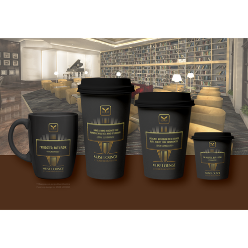 Paper Cup & Mug Design for Muse Lounge