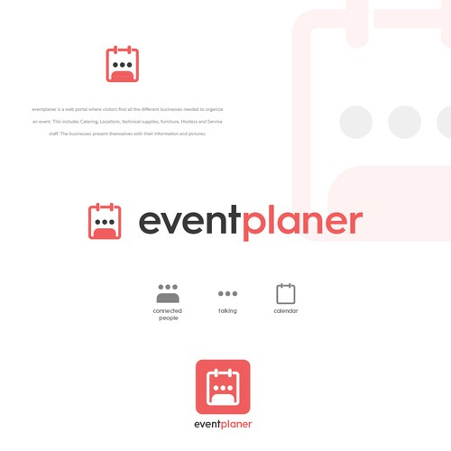 Logo concept for event planner web portal