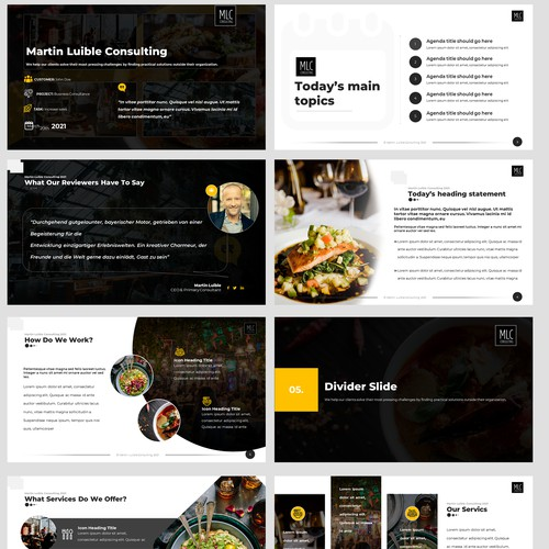 PowerPoint Design for Beverages & Food Consulting