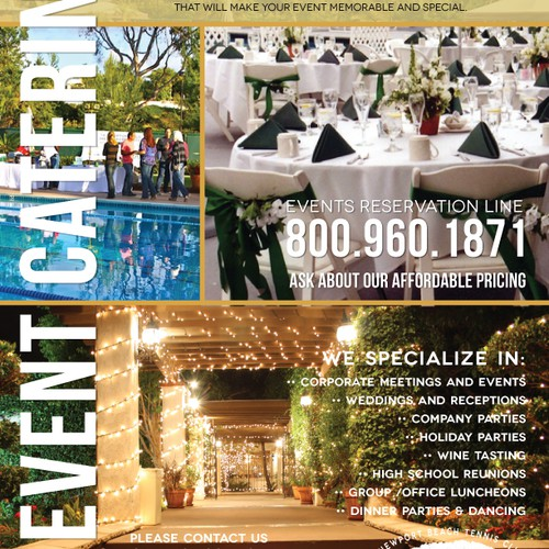 Sell Sheet | Events | Catering
