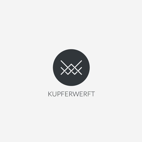 Logo for 'Kupferwerft', a copper and concrete furniture company