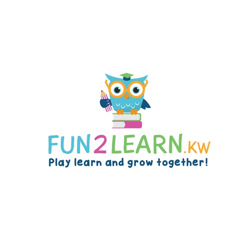 Logo design for educational activities for kids.