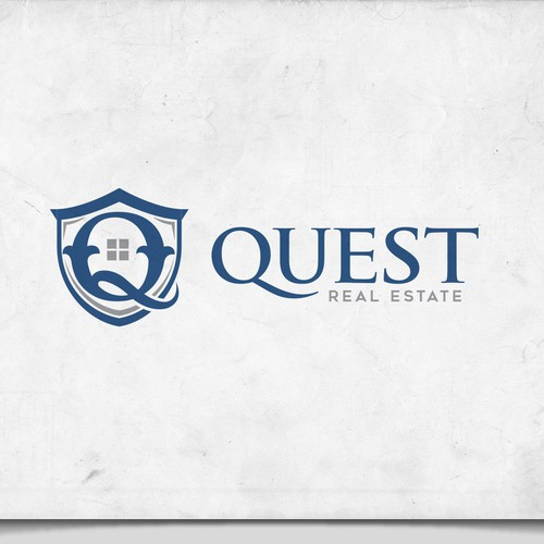 Classy Elegant Logo For Quest Real Estate