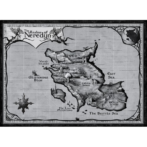 Fantasy map illustration