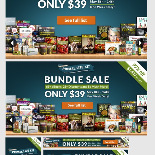 -- Multiple Winners Needed for Bundle Sale Banner Ads --
