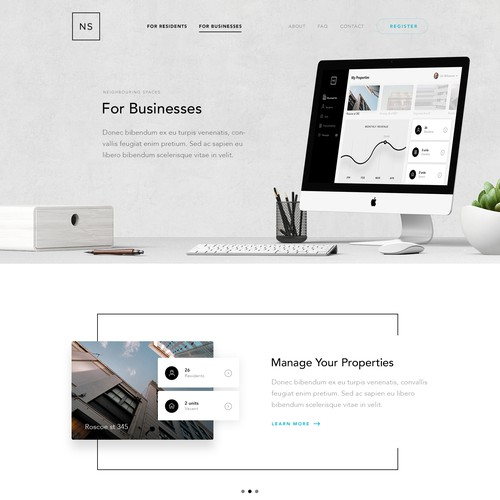 Website Design for Neighbouring Spaces