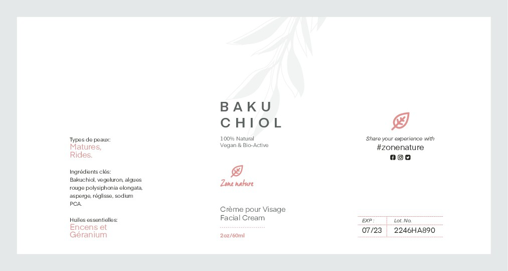 Luxurious Natural Skincare Brand label design