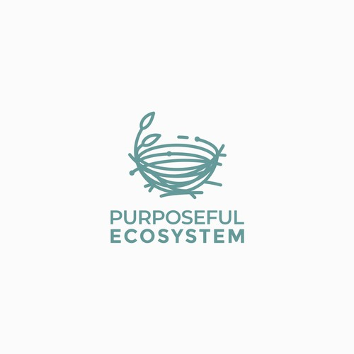 Crisp Concept for Purposeful ECOSYSTEM Logo Design