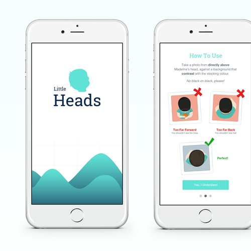 Design for baby app that helps parents measure and track their child's head shape