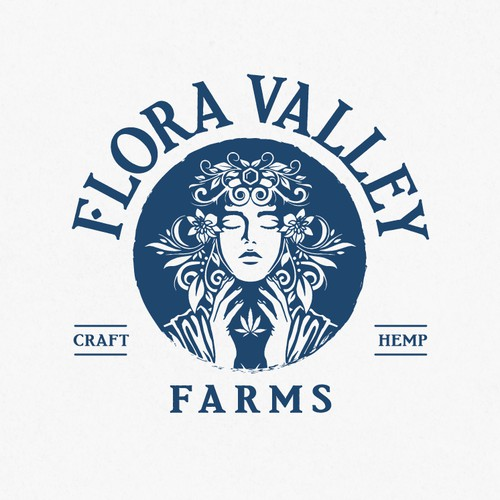 Logo design for hemp farm