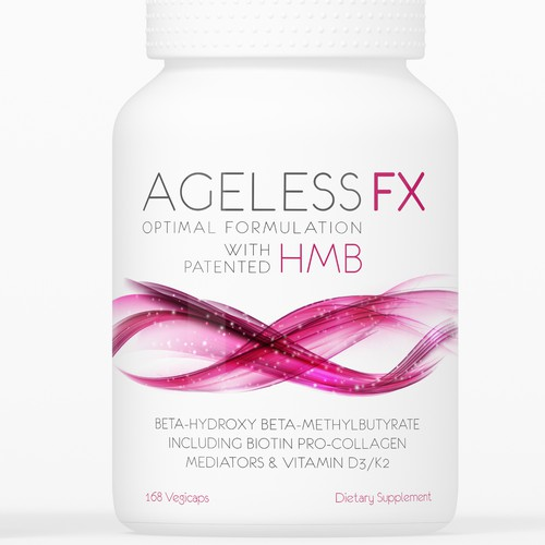 Anti-aging nutritional supplement product label