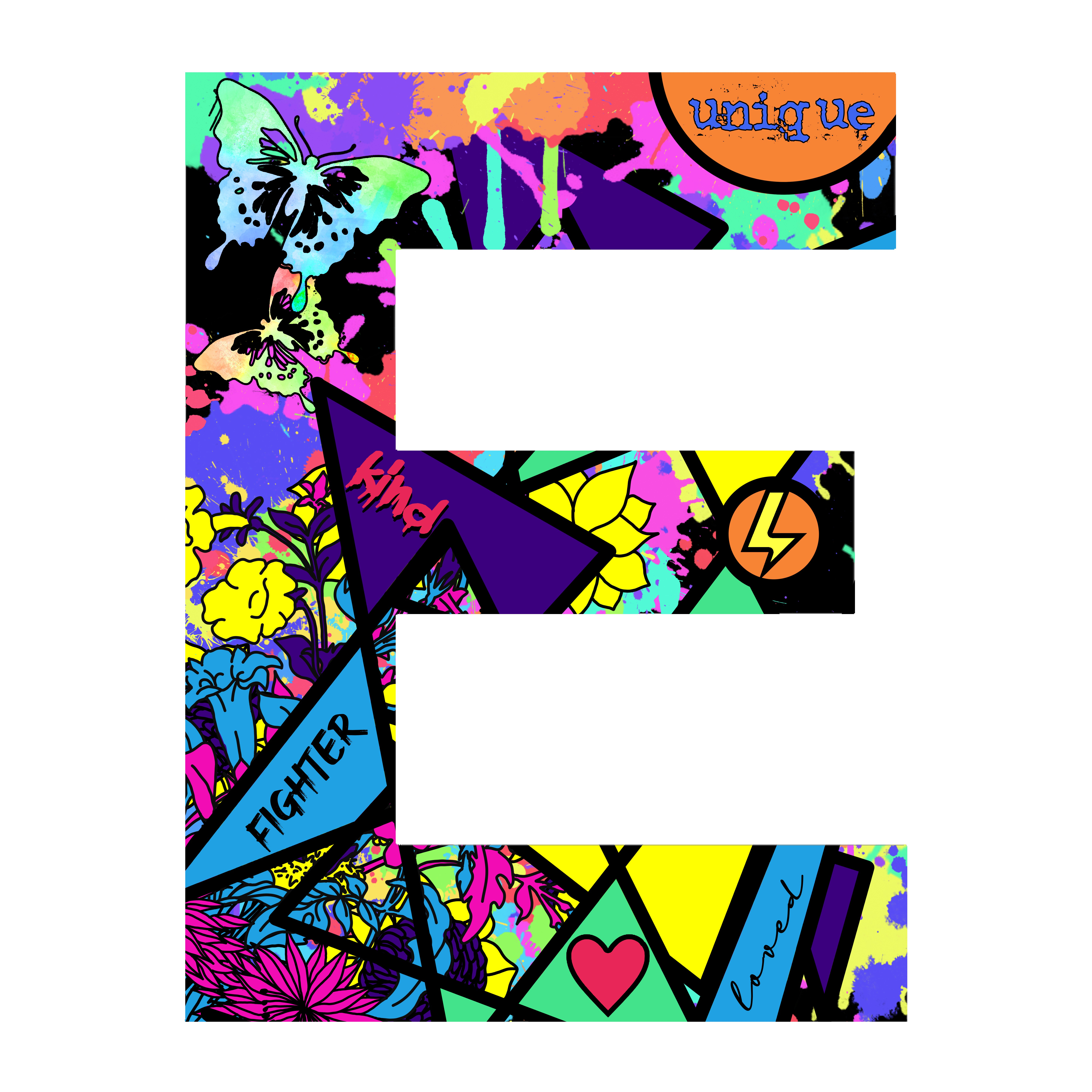 "Fill the letter ""O' with creative and colorful designs"
