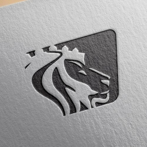 Logo design for a real estate company...lion as one of the elements requested by a client.