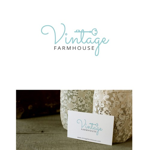 Logo design for a shabby chic website.