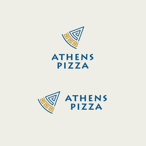 Logo concept for Athens Pizza