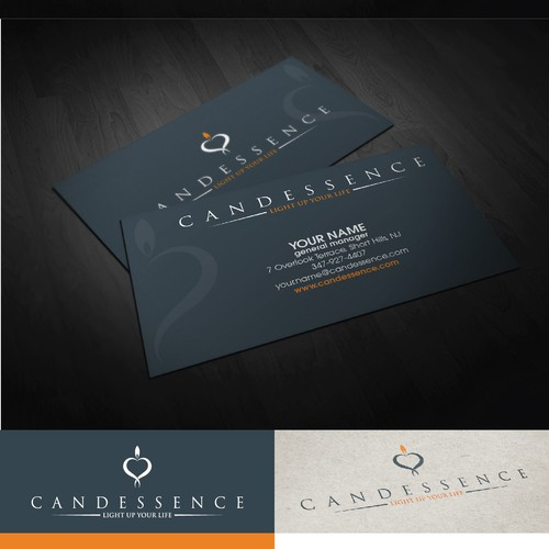 Create the next logo and business card for Candessence