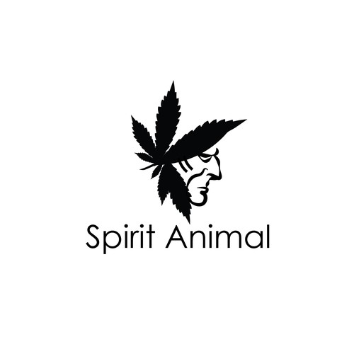 Cannabis logo with Native American infuence